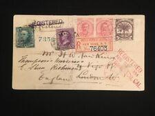 SAMOA REGISTERED 1894 TO LONDON FORWARDED 2-1/2 PENCE (2)+HALF PENNY