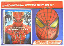 NEW SPIDER-MAN BLU-RAY / DVD  MOVIE GIFT SET WITH LIMITED EDITION MASK DVD CASE
