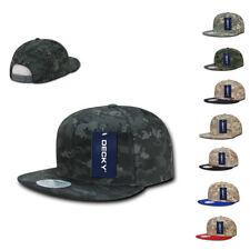 1 Dozen DECKY Snapback Army Flat Bill 6 Panel Camouflage Hats Caps Wholesale Lot