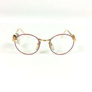 Mickey Mouse Eyeglass Kids Frames Pink Round Rx Glasses Marchon Eyewear 44 20 02