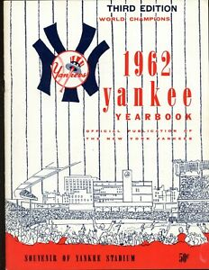 1962 New York Yankees Third Edition Yearbook EXMT/NRMT