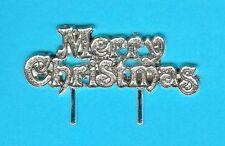 10 Argento Buon Natale Pick/MOTTO tortina cupcake decorazione per torta/GRATIS 1st Class Post