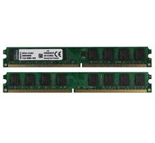 Kingston 4GB 2X 2 GB DDR2 800Mhz PC2-6400 DIMM Memory Desktop 240Pin RAM PC6400