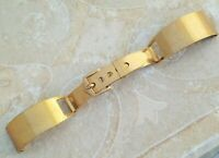 QJ3: RARE VINTAGE WWII NOS 16mm OFFICERS 12K Y GOLD FILL USA CUFF BAND BRACELET