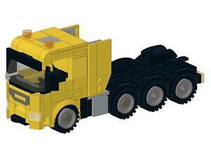 Bauanleitung instruction City SLT gelb Truck LKW Eigenbau Moc aus Lego Basic