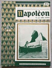 Magazine Ciné Or NAPOLEON vu par ABEL GANCE Editions Jules Tallandier 1927 *