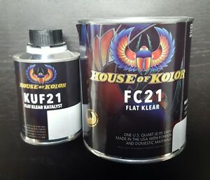 House of Kolor Flat Clear Kit FC21 Clearcoat