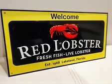 Red Lobster fish seafood  restaurant Sign