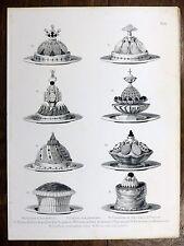 Gravure URBAIN DUBOIS Cuisine Artistique 1874 Pluvier LEVRAUT Vol-au-vent PIGEON