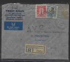 Thailand (P1512B) 1948 King 80 Stg+10Stg Reg Av2 Letter To Switzerland