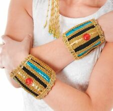 New Ladies Egyptian Wristbands Bracelet Cleopatra Fancy Dress Accessory Costume