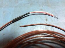 6 feet of ThermoCouple Wire J Type Beaded Prepped for use 30AWG Red/White