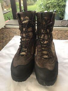 "Danner Pronghorn 8"" GORTEX AP 1200G Leather Hunting CAMO Boots Mens Sz 14""D"""