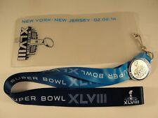Super Bowl XLVIII NFL Lanyard Ticket Holder Commemorative Pin