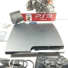 Sony PlayStation 3 Slim Killzone 3 160 GB Charcoal Black Console No Game