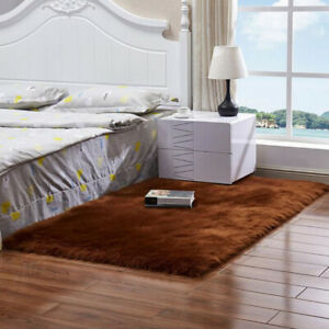 Shaggy Area Rugs Fluffy Floor Carpet Mat Living Room Bedroom Large Rug Home Deco