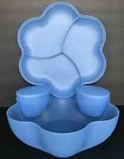 Tupperware Chip N Dip 4 Piece Set Large Light Blue New