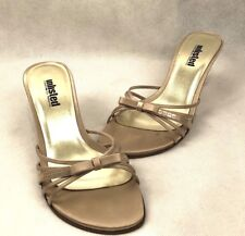 Unlisted by Kenneth Cole Sing Along SA  Sandals Shoes Size 7.5M Champagne - EUC