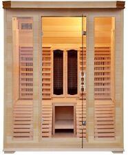 Sauna infrarossi 150x150 2 posti sdraio cromoterapia radio lettore cd hemlock df