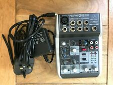 Behringer Q502USB Xenyx 5-Input 2-Bus Mixer with USB/Audio Interface