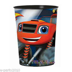 BLAZE and the MONSTER MACHINES REUSABLE KEEPSAKE CUPS (2) ~ Birthday Party Favor