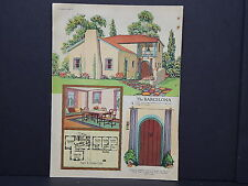 Houses, Homes, American Builder c.1927, One Double Sided Print #10