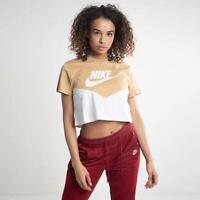 Nike Womens Sportswear Heritage Short Sleeve Top Club Gold Active AR2513-133