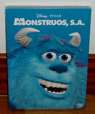 MONSTERS,INC.-MONSTRUOS,S.A.-DISNEY-PIXAR-DVD-NUEVO-NEW-SLIPCOVER-(SIN ABRIR)-R2