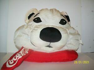 "1993 Coca Cola Polar Bear Hanging Stuffed Plush Pillow 13"" Plush Toy Size16""x16"