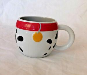 Disney Store 101 Dalmatians Mug Large Cute Pongo Rare Red Collar Spots Puppy