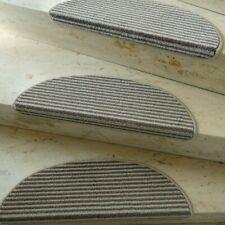 1 Set 16 Stufenmatten First Class Q Taupe Braun halbrund 60x20 Metallwinkel