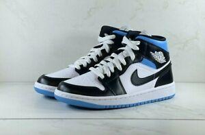 Nike Air Jordan 1 Mid University Blue Black White (W) BQ6472-102 Free Shipping