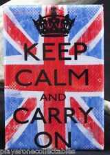 Keep Calm and Carry On - Fridge Magnet. Chive On Union Jack UK England
