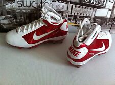 NIKE ZOOM HYPERFLY TD MID MEN'S FOOTBALL  CLEATS WHITE RED US 11 EUR 45