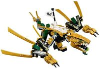 LEGO NINJAGO LEGACY LLOYD GOLDEN NINJA DRAGON 70666 BUILD ONLY - NO MINIFIGURES