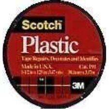 "3M Scotch 191 Colored Plastic Tape, 125"" Length x 1-1/2"" Width, Black"