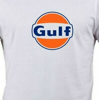 Gulf Oil Shirt Mens S,M,L,XL Motor Gas Gasoline Petrol Vintage Logo Sign Bootleg