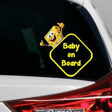 SpongeBob Baby on Board Funny Novelty Car Bumper Window Sticker Decal Colour