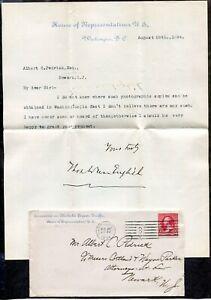 WASHINGTON DC 1894 Congress Cover & Letter to Newark. Liquor Traffic     (p1672)