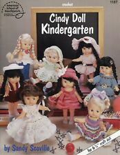 "Cindy Doll Kindergarten ~ fit 6-3/4"" Cindy dolls crochet pattern booklet NEW"
