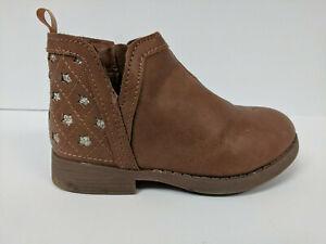 OshKosh B'Gosh Ivy Ankle Boot, Brown, Toddlers 9 M