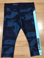 UNDER ARMOUR Capri Compression Pants Womens Size XL Blue NEW!!
