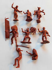 Marx Fort Apache Red Brown Indians Lot Toy Figures