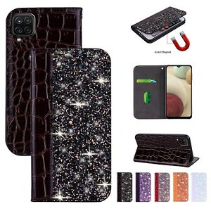 Bling Leather Case for Samsung Galaxy A12 A32 A42 A52 5G Card Slot Phone Cover