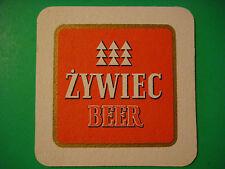 BEER Coaster Bar Mat ~ Zywiec Jasne Pelne Pale Lager ~ Żywiec, Poland Since 1852