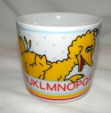 Sesame Street Big Bird Alphabet Porcelain Child's Mug 6 oz