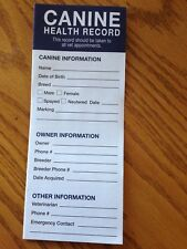 Lot of 25!!!! Canine puppy dog health shot record