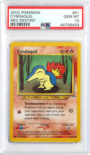 Pokemon Neo Destiny # 61 Cyndaquil Non Holo PSA 10 GEM MINT Card Trusted Seller*