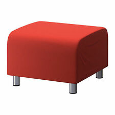 Ikea Klippan Footstool Cover - Flackarp Red-Orange 602.810.64