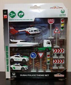 MAJORETTE - Bentley Audi Man Truck- DUBAI Police Theme Set